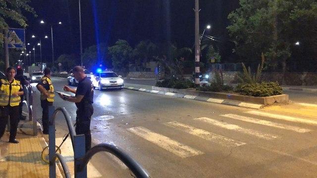 נערה נדרסה ברחוב ההסתדרות בעפולה (צילום: דוברות המשטרה )