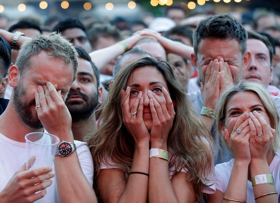 אוהדי נבחרת אנגליה מאוכזבים (צילום: AP)
