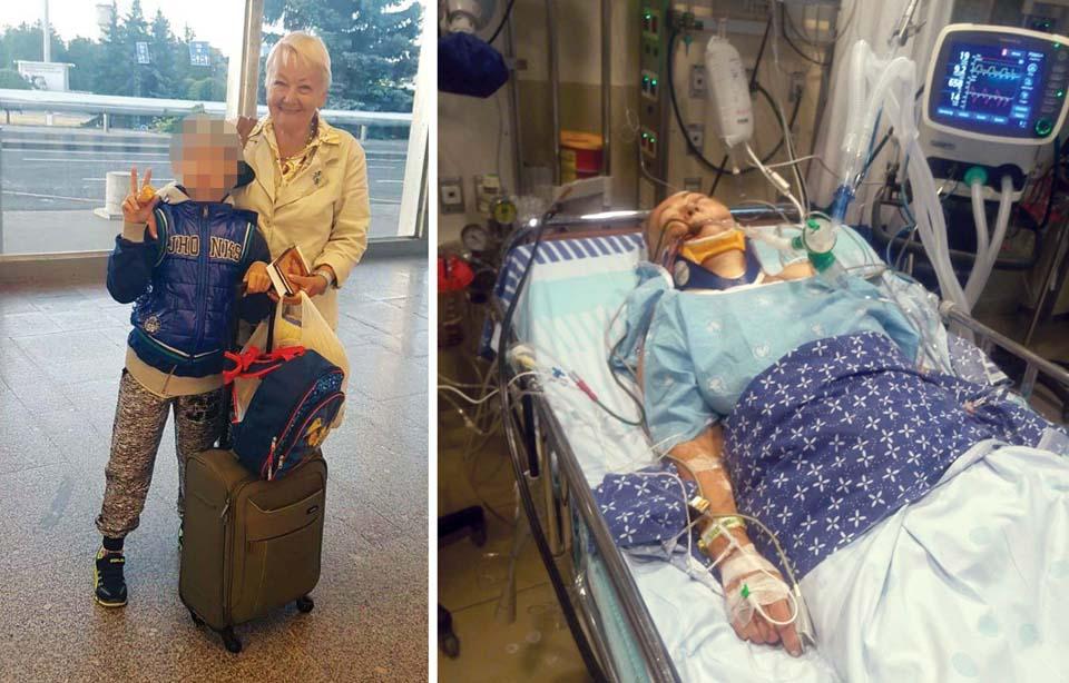 Расма Осипова перед вылетом в Израиль и после. Фото предоставлено Еленой Гросс