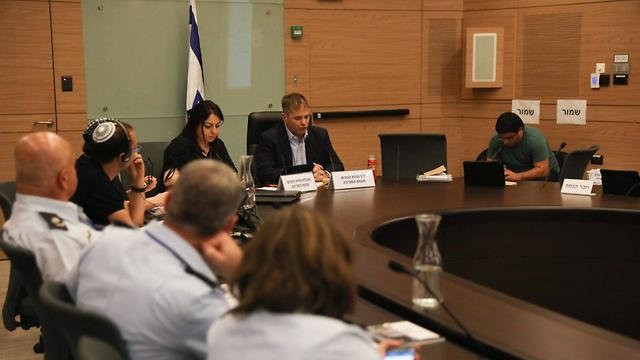 Kish chairing Internal Affairs Committee (Photo: Knesset Channel)