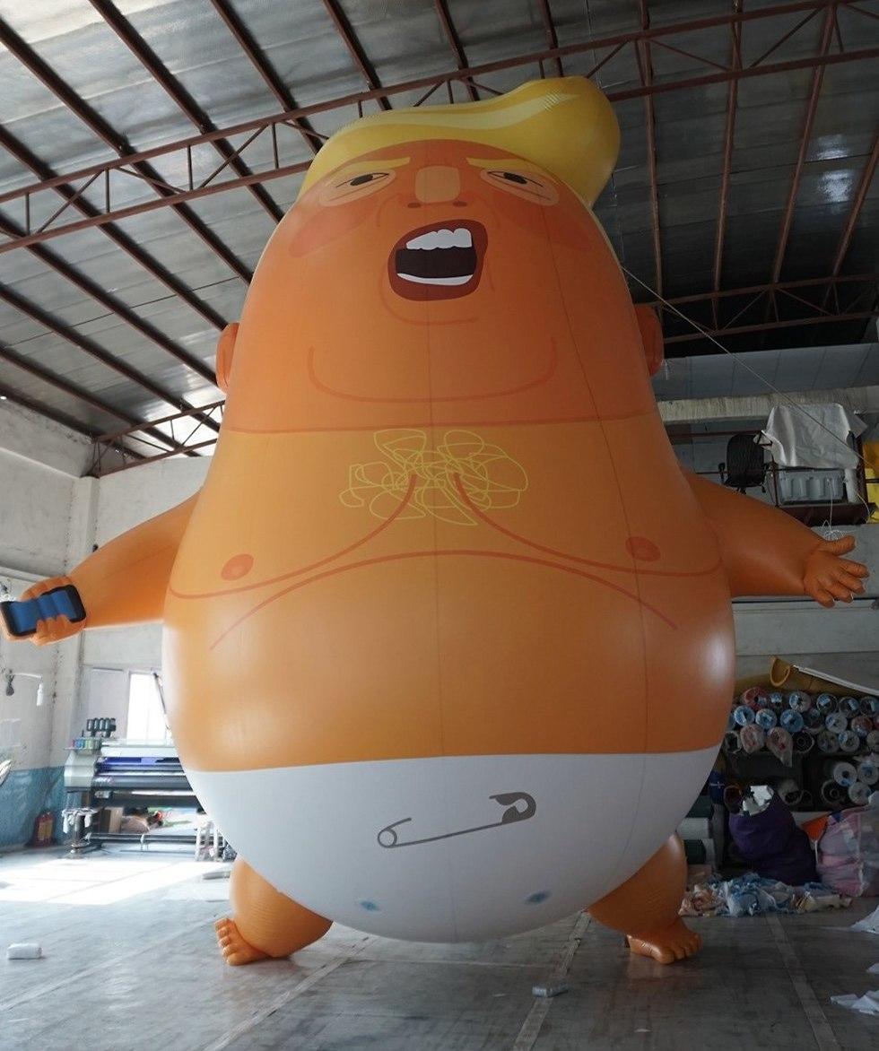 בלון בצורת תינוק דונלד טראמפ ()