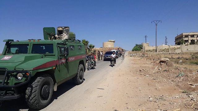 כוחות רוסים ב בדרעא סוריה ()