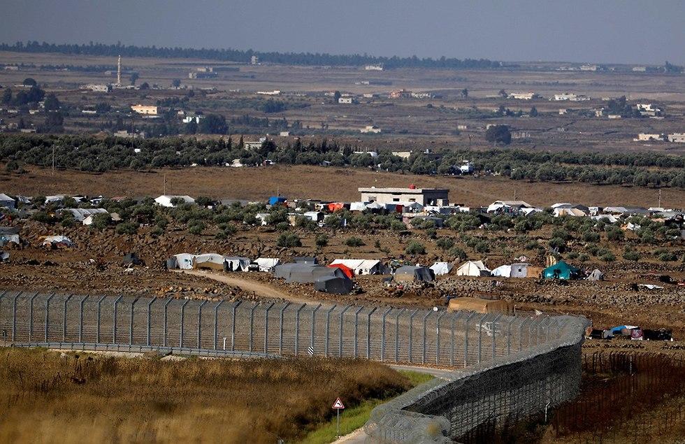 מחנה פליטים סורים ליד גבול ישראל ברמת הגולן (צילום: רויטרס)