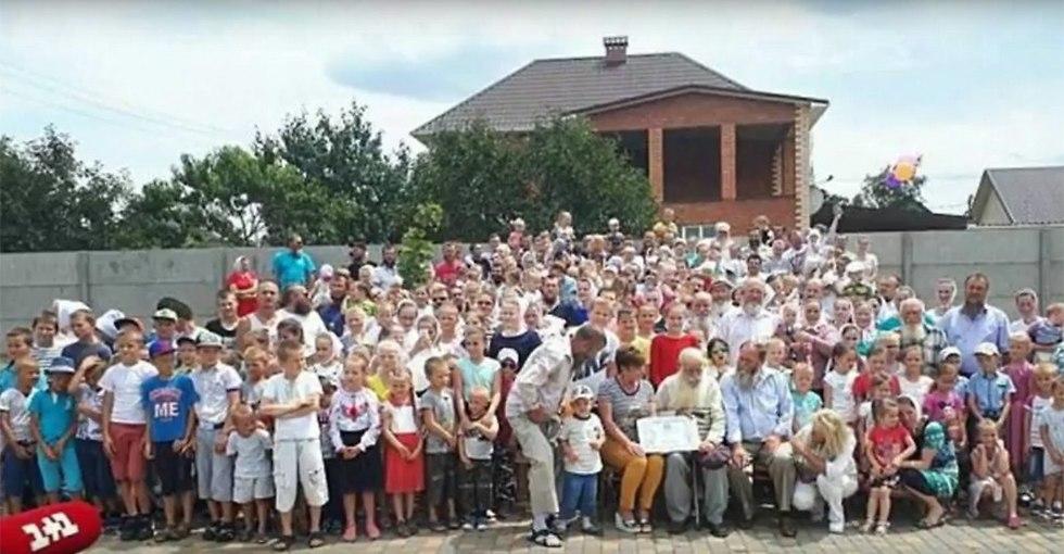 משפחה גדולה אוקראינה בן 87 נכדים נינים סמניוק ()