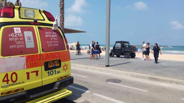 טביעה חוף גאולה תל אביב (צילום: דוברות מד