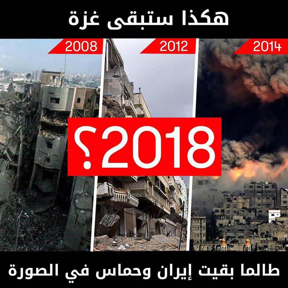 IDF warns Gaza's residents in Arabic