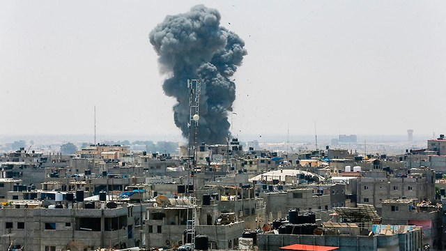Bombardement de l'armée de l'air à Rafah (Photo: AFP)