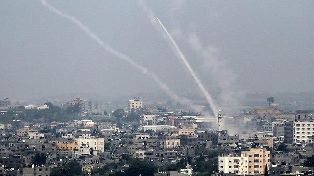 Запуски ракет из Газы. Фото: AFP