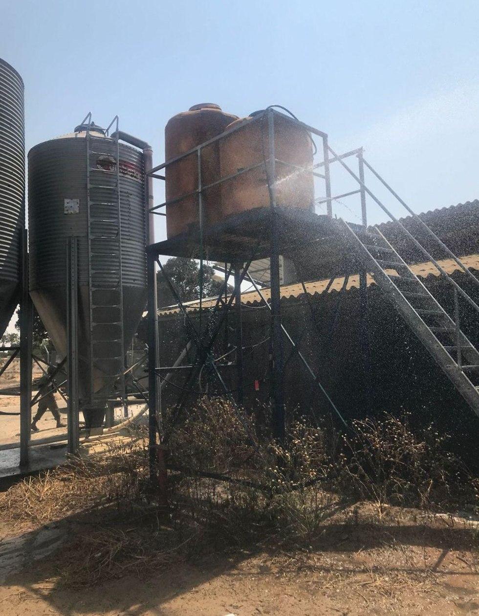 Dommages causés au poulailler à Eshkol