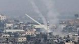 רקטות נורות מעזה (צילום: AFP)