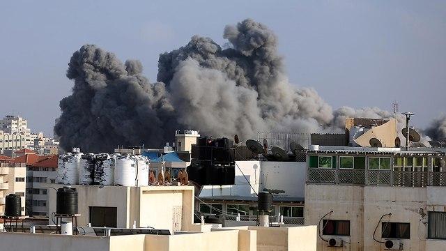 IAF attacks in Gaza (Photo: MCT)