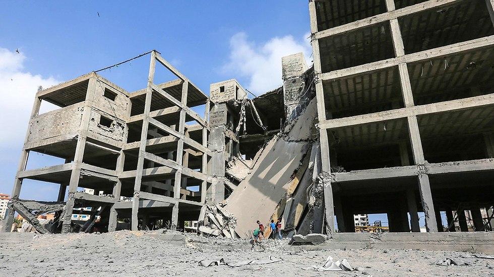 Здание, разрушенное израильской авиацией. Фото: AFP (Photo: AFP)