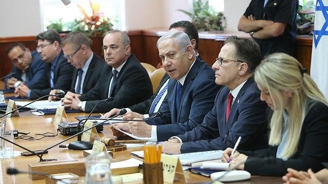 ישיבת ממשלה (צילום: אלכס קולומויסקי)