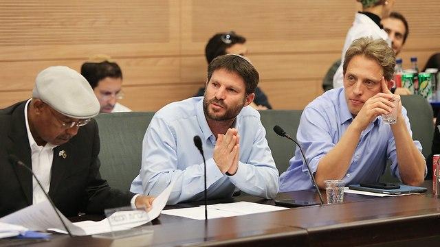 MK Bezalel Smotrich, center (Photo: Amit Shabi)