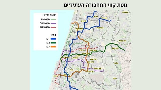 מפת קווי התחבורה העתידיים  ()