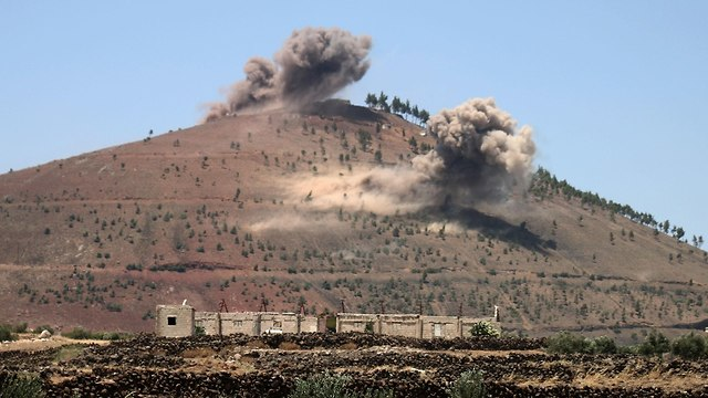 Syrian army attack in Quneitra (Photo: AFP)