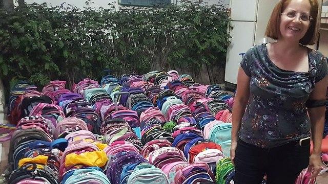 ילקוטים שנתרמו עבור ילדים נזקקים ()