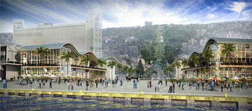 התוכנית השאפתנית ''חזית הים'' אמורה לפנות את הממגורות כדי לייצר רצף עירוני בין החוף לעיר. אך מה הסיכוי שזה יקרה? לא בקרוב, זה בטוח (הדמיה: עמי שנער - אמיר מן אדריכלים)