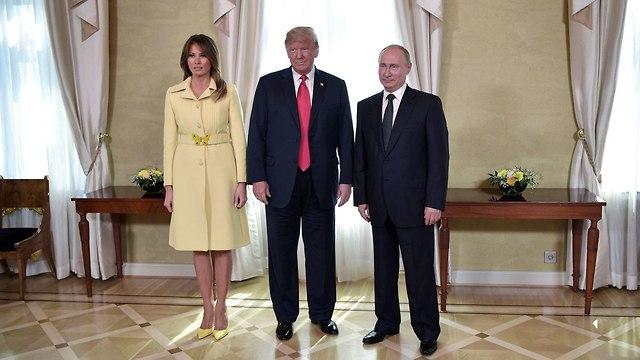 מלניה טראמפ דונלד טראמפ ולדימיר פוטין ארה