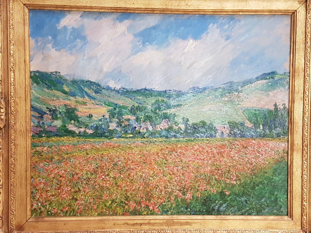 שדה הפרגים של מונה, במוזיאון לאמנות יפה ברואן (צילום: אחיה ראב