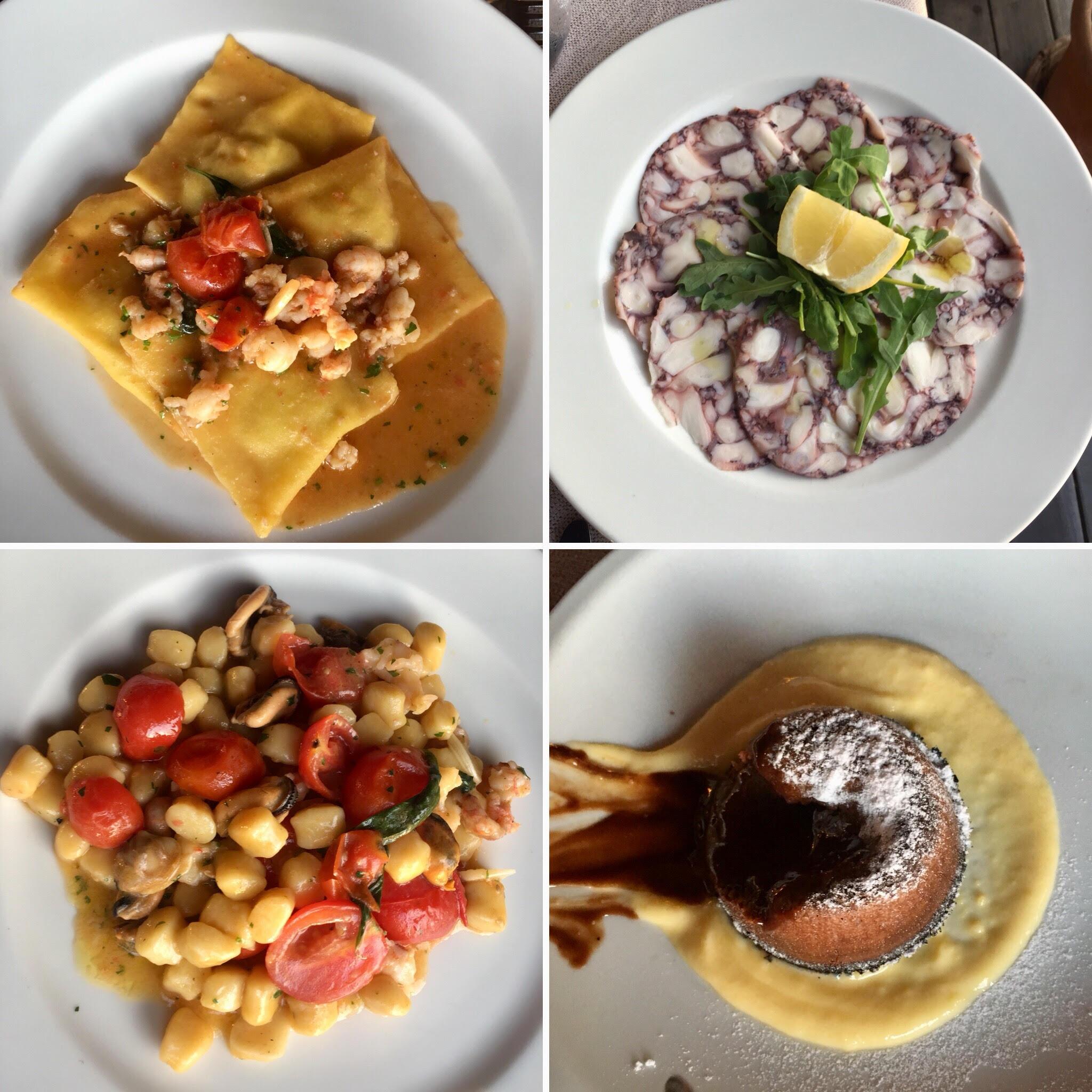 פסטה ופירות ים ב-Al Molo (צילום: הילי ברוק בלום)