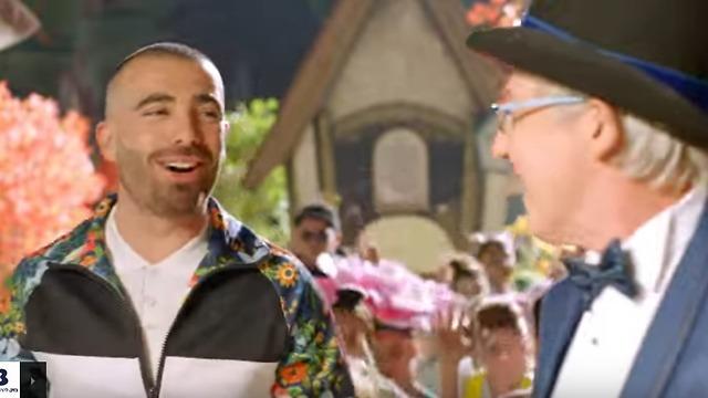 עומר אדם וגידי גוב בפרסומת לבזק (צילום מסך)