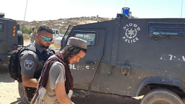 Settler arrested by Border Police after throwing stones at Israeli forces (file photo)
