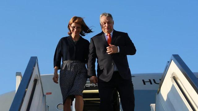 Orbán and his wife land in Israel
