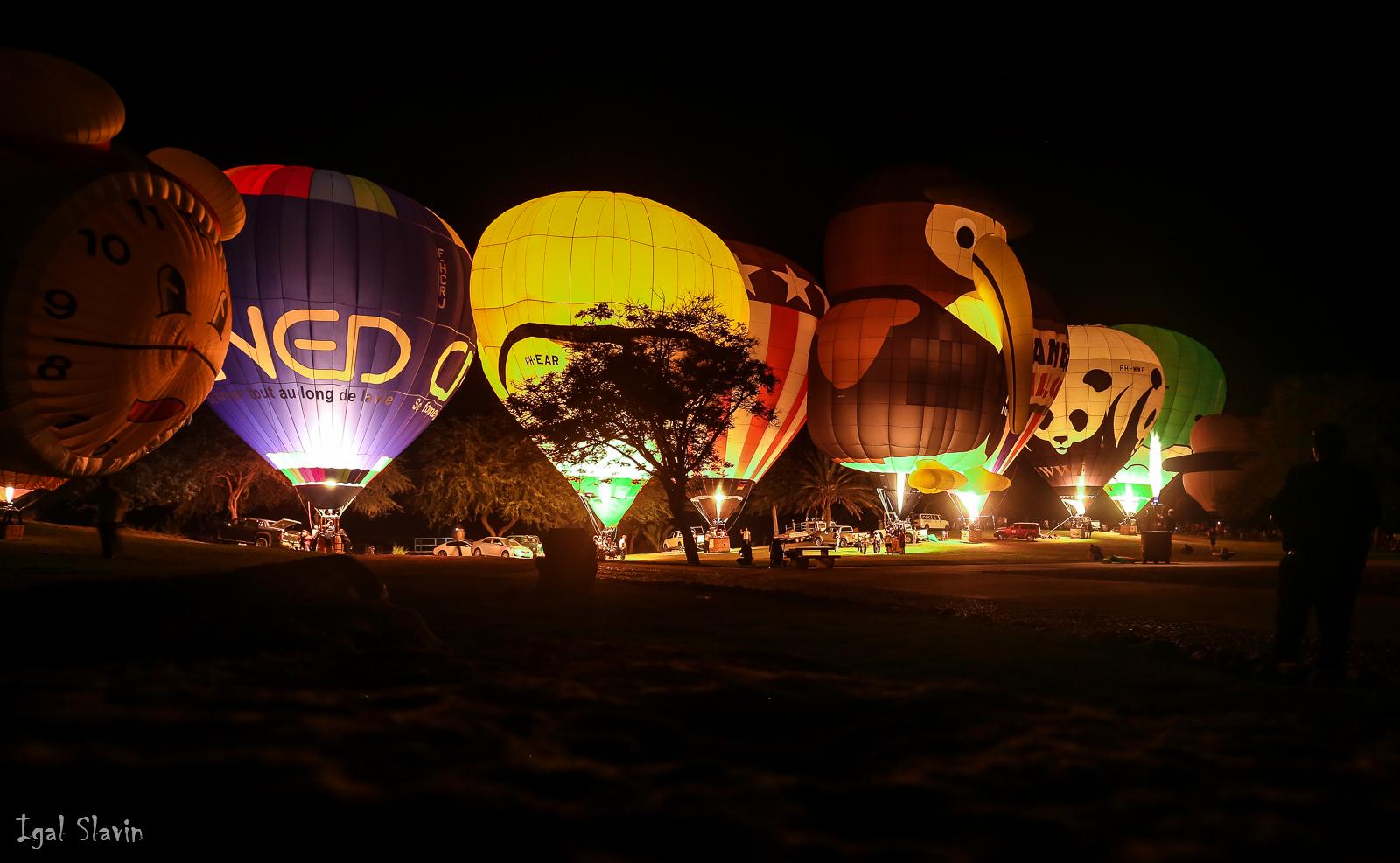 מופע ה-Night Glow (צילום: יגאל סלבין)