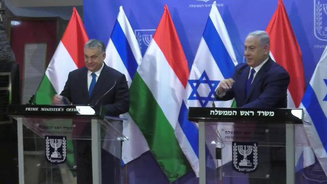 PM Victor Orbán and PM Netanyahu (Photo: Eli Mendelbaum)