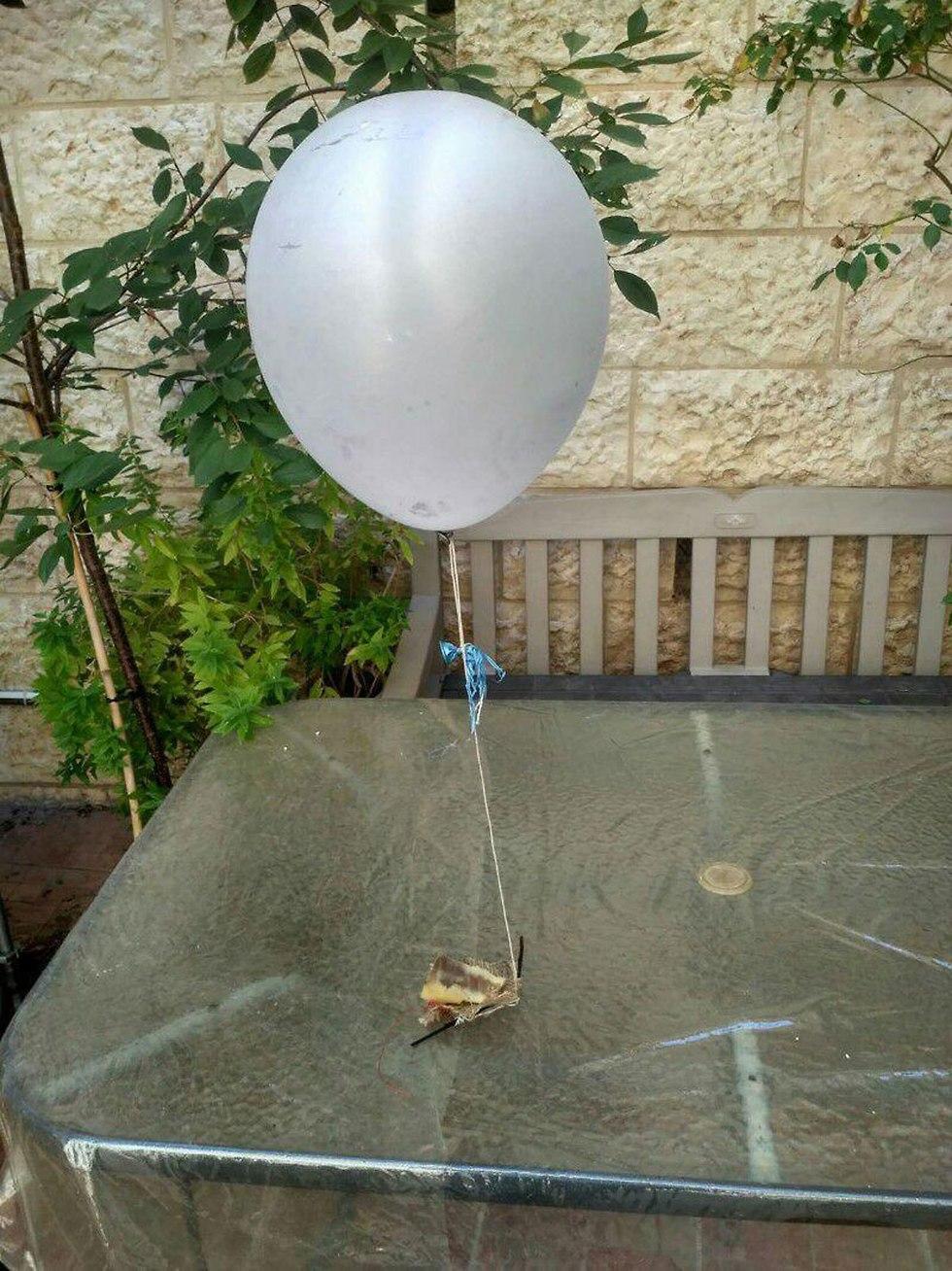 Incendiary balloon lands in backyard