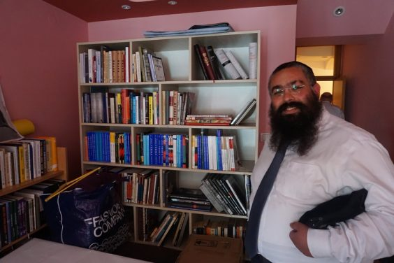Rabbi Ari Edelkopf, a Chabad protégée who was chosen by Jasa Alfandari to lead the Montenegro Jewish community. (Photo: Felice Friedson/The Media Line)