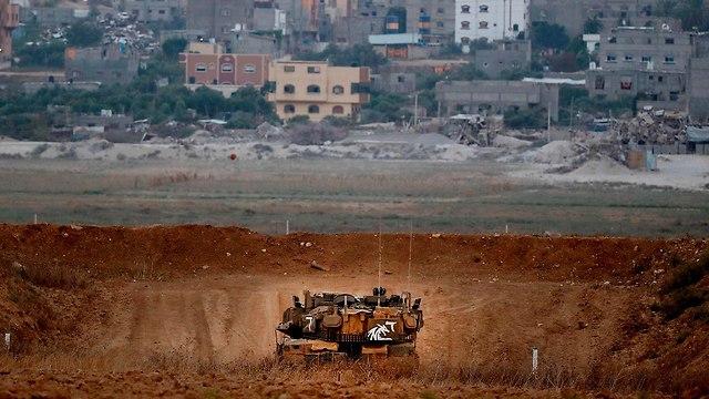 File photo of Israeli tank on Gazan border (Photo: AFP)
