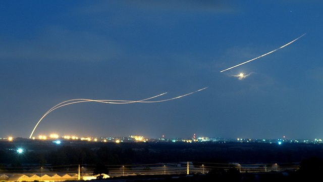 Rockets launched from Gaza at Israel