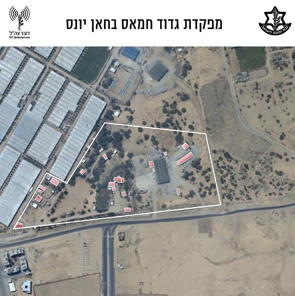 Hamas headquarters in Khan Yunis (Photo: Hamas Zaytun battalion headquarters)