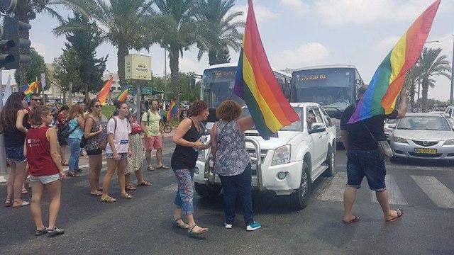Protest in Be'er Sheva (Photo: Barel Efraim)