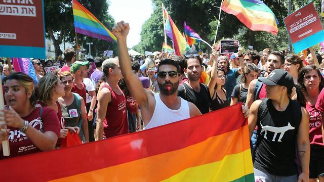 LGBT protest in Tel Aviv (Photo: Motti Kimchi)