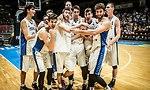 שחקני נבחרת העתודה חוגגים (צילום: FIBA.COM)