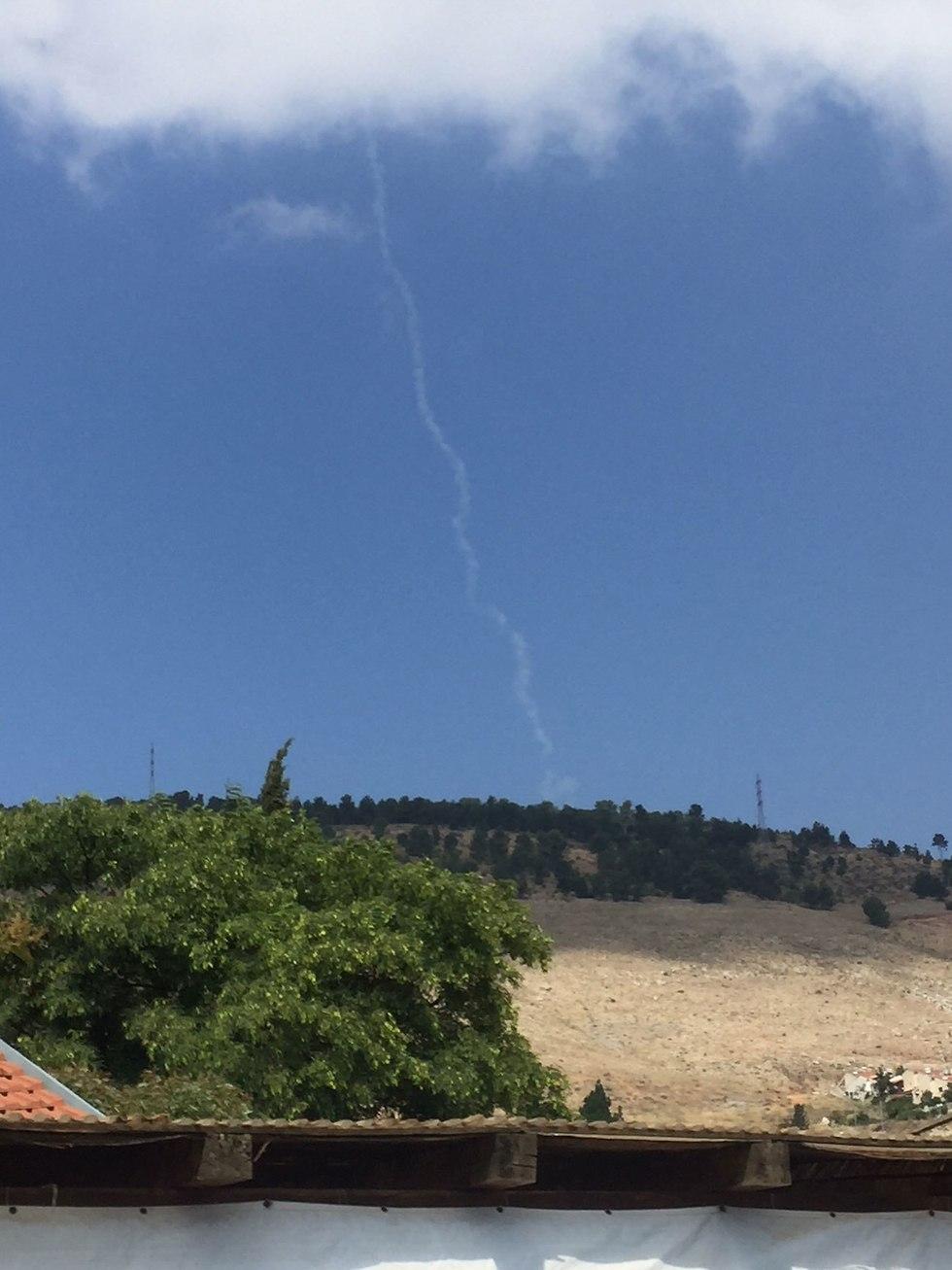 שיגור קלע דוד שרביט קסמים גולן רמת הגולן צפת ירוט (צילום: חן יעקבי)