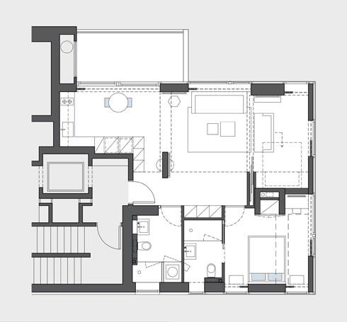 תוכנית הדירה  (תוכנית: אדריכלית מירב גלן)