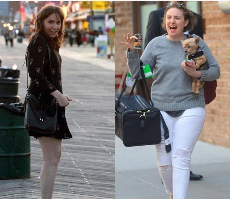 Лина Данэм до (слева) и после. Фото из инстаграма