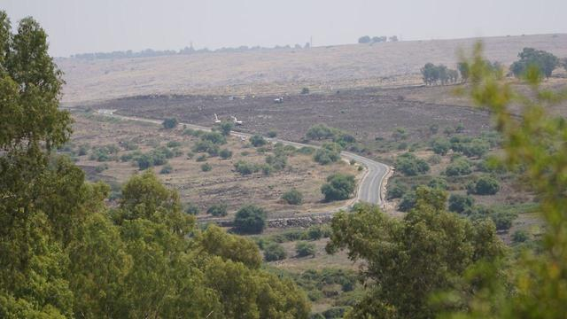 פיצוץ מוקשים ברמת הגולן  (צילום: דוברות משרד הביטחון )