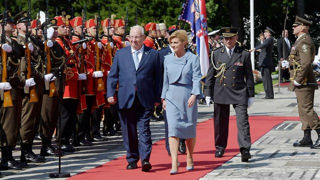 President Reuven Rivlin's visit to Croatia (Amos Ben Gershom/ GPO)