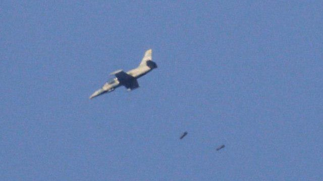 Syrian fighter jets bombing rebel targets earlier Tuesday (Photo: AFP)