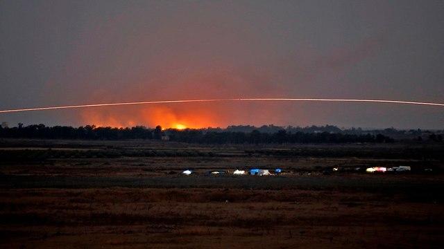 לחימה בסוריה ליד רמת הגולן (צילום: AFP)