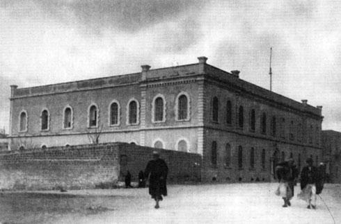 המבנה, כפי שצולם ב-1928. שימש כאכסנייה לצליינים ובית חולים, שניהלו הנזירות (צילום: מעזבונו של אדריכל יצחק רפופורט, באדיבות אדריכל עודד רפופורט)