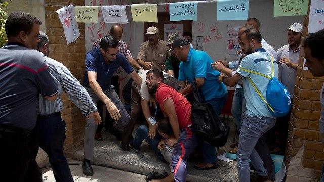 Protests break out amid UNRWA redundancies (Photo: AP)