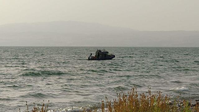 הסריקות אחרי הטיל ששוגר מסוריה (צילום: דוברות המועצה האזורית עמק הירדן)