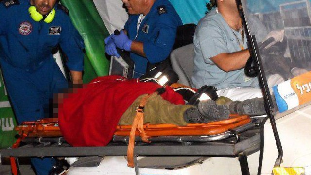 The IDF officer wounded by sniper fire this week (Photo: Haim Horenstein)