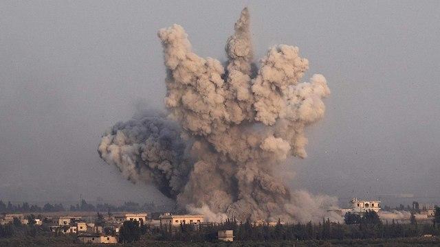 הלחימה בצד הסורי (צילום: EPA)